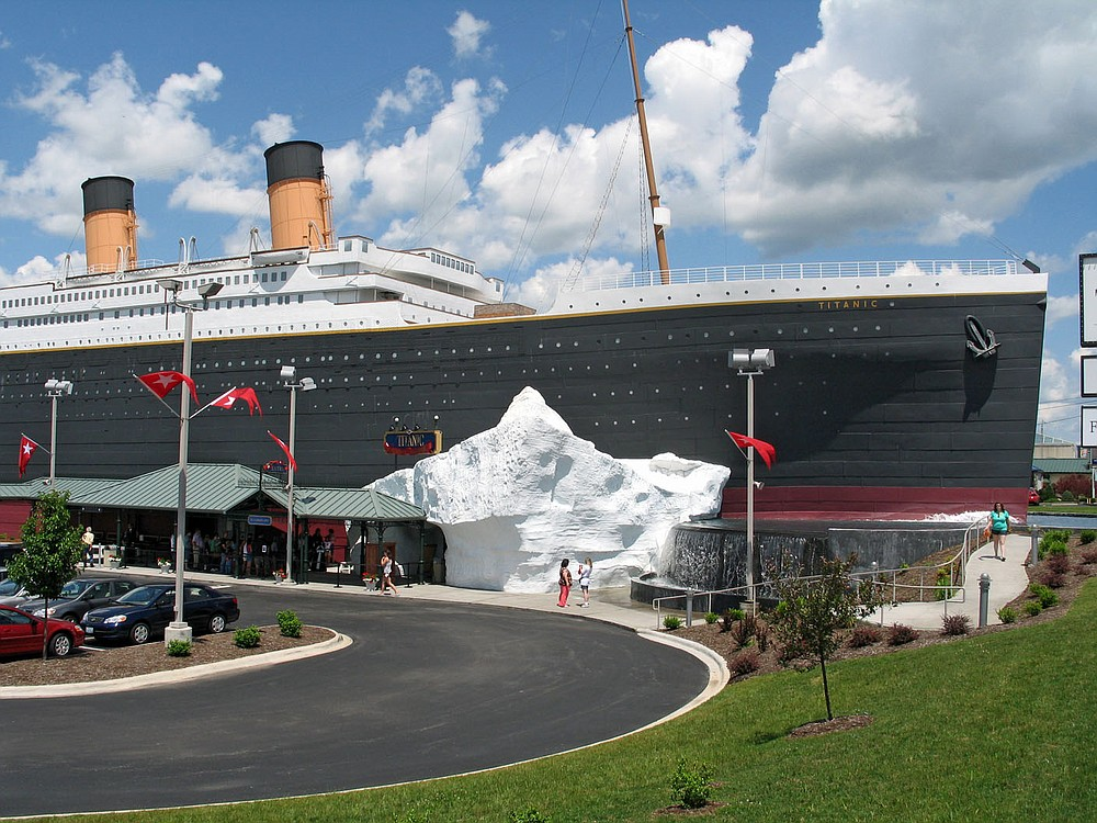 While the ship-shaped Titanic Museum Attraction in Branson seems huge, it is in fact built to half-scale of the actual ocean liner, which sank on April 15, 1912, after striking an iceberg in the North Atlantic. The museum opened in 2006.  (Courtesy Photo)