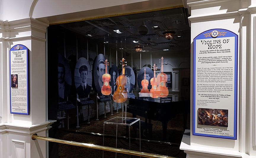 """""""Violins of Hope"""" is a project created by Israeli violin maker Amnon Weinstein to recover and restore musical instruments played by Jewish people during the Holocaust. Examples of his work are part of the current tribute to Jewish passengers on the Titanic at the Titanic Museum Attraction in Branson.  (Courtesy Photo)"""