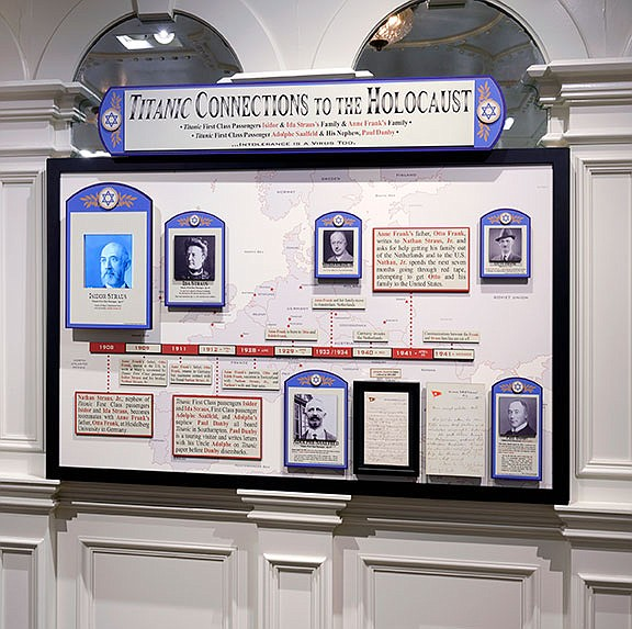 Connections between the doomed ocean liner Titanic and the Holocaust were revealed by research at the Titanic Museum Attraction.  (Courtesy Photo)
