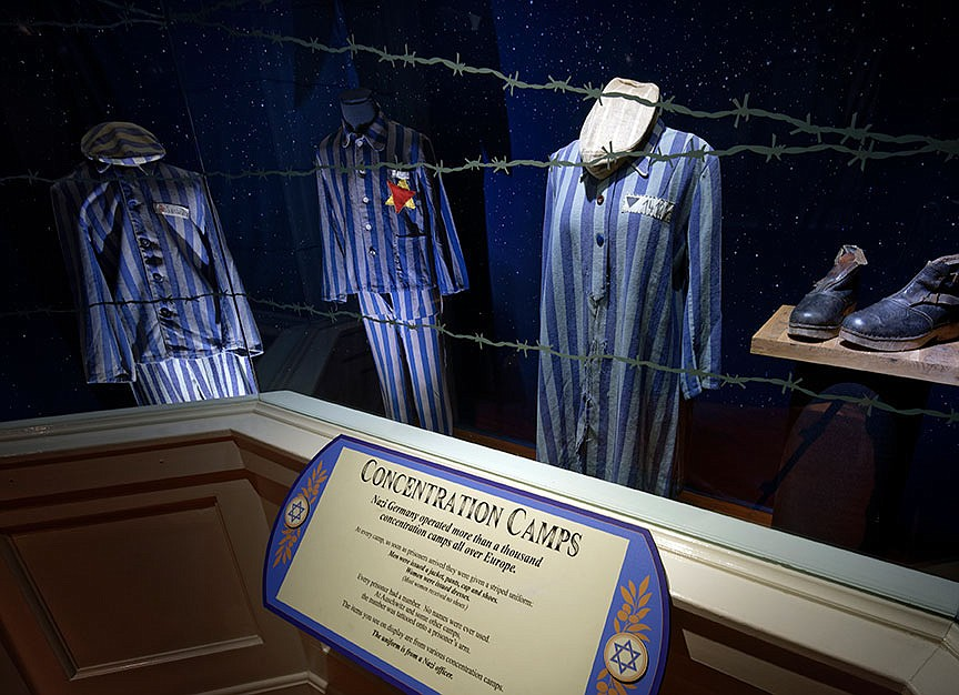 The current exhibition at the Titanic Museum Attraction also remembers the concentration camps of World War II.  (Courtesy Photo)