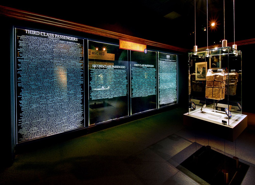 Museum visitors can pay their respects to the 2,228 passengers and crew of the Titanic. Only 705 survived the disaster in 1912. Each guest is assigned a boarding pass when he enters the museum and finds out at the conclusion of the tour whether that passenger survived.  (Courtesy Photo)