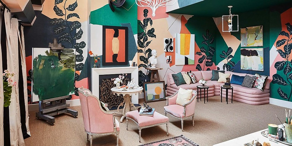 This room was designed by Young Huh Interiors with art curation by Cynthia Byrnes Contemporary Art. (Ngoc Minh Ngo via AP)