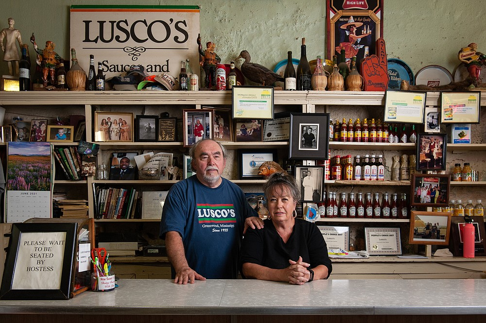 Andy and Karen Pinkston took over Lusco's in 1976, the restaurant in Greenwood, Miss. Andy Pinkston is a descendant of the Sicilian immigrant family who opened the first Lusco's in Greenwood in 1921. (Rory Doyle/The New York Times)