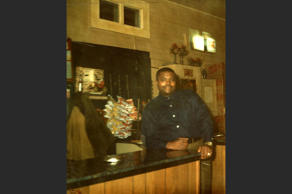This photo, provided by Yvette Johnson of Booker Wright in Booker's Place in Greenwood, Miss., shows the bar and restaurant he opened with money saved from his many years of working at Lusco's. Wright scandalized the town in 1966 when an NBC News documentary about racism in the Delta included footage of him speaking frankly about what it was like to be a Black waiter in the Jim Crow-era South. (Courtesy of Yvette Johnson via The New York Times)