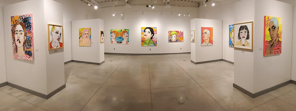 """""""Both Ends Burning,"""" paintings by Little Rock artist Michael Shaeffer, are on display through Sept. 24 in Norman Hall, Arkansas Tech University at Russellville. (Special to the Democrat-Gazette)"""