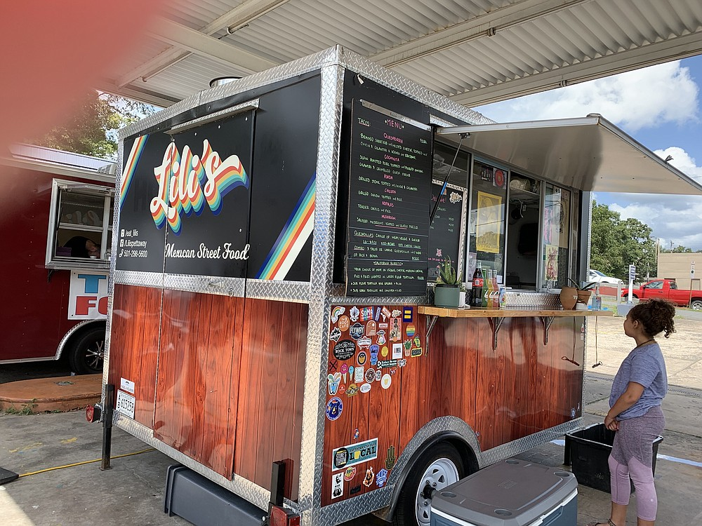 Lili's Mexican Street Food truck recently parked at the Filling Station on John F. Kennedy Boulevard on North Little Rock's Park Hill. (Arkansas Democrat-Gazette/Eric E. Harrison)