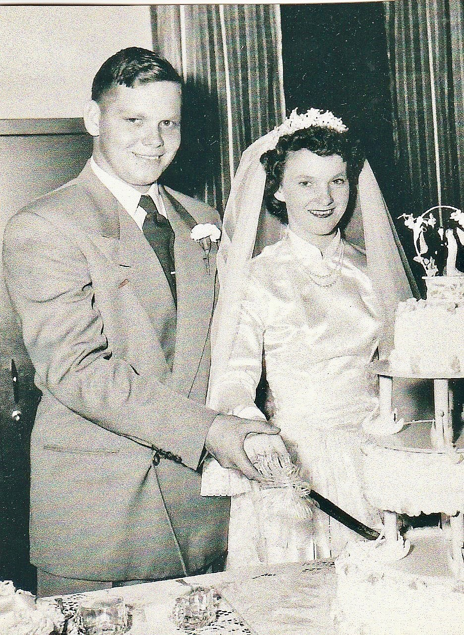 Submitted Photo  Robert and Gloria Hill on their wedding day, September 9, 1951