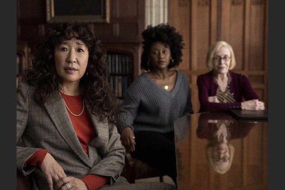 """Sandra Oh, Nana Mensah and Holland Taylor are English professors at a small liberal arts college in the Netflix limited series """"The Chair."""" (Netflix)"""