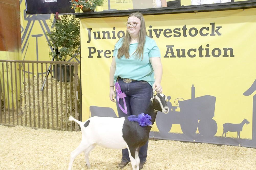 Brynna Drummond, Grand Champion Junior Dairy Goat, Farmington FFA