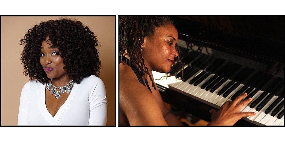 """Singer Genine LaTrice Perez and pianist Karen Walwyn appear with the Arkansas Symphony Orchestra in its free """"Celebrate Little Rock, Together"""" concert today at Little Rock's Robinson Center Performance Hall. The concert will also be simulcast live to a big screen in the Dunbar neighborhood. (Special to the Democrat-Gazette)"""