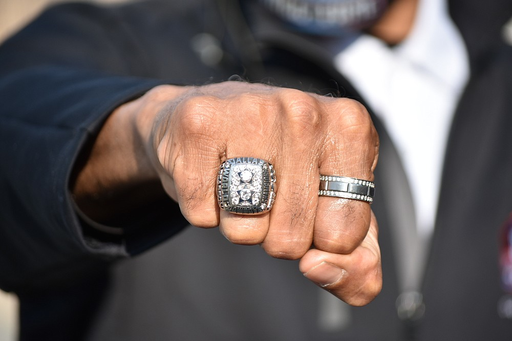 Drew Pearson's championship ring from Super Bowl 12, played at the end of the 1977 NFL season. (Pine Bluff Commercial/I.C. Murrell)