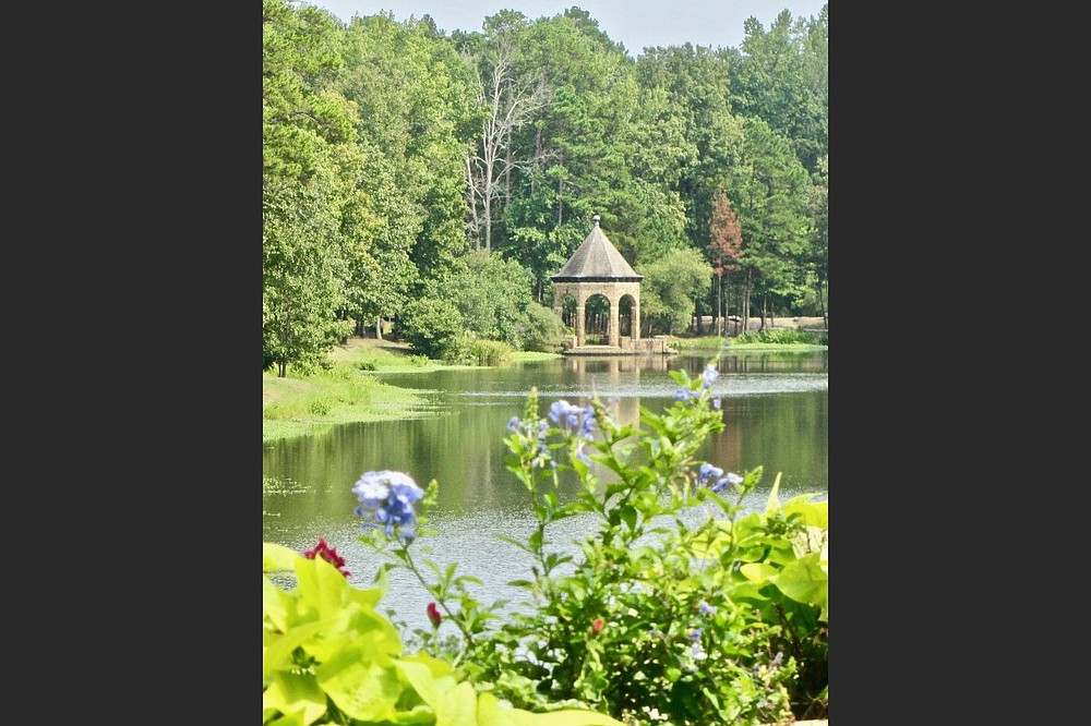 The Gertrude Remmel Butler Gazebo stands at the eastern end of Swan Lake. (Special to the Democrat-Gazette/Marcia Schnedler)