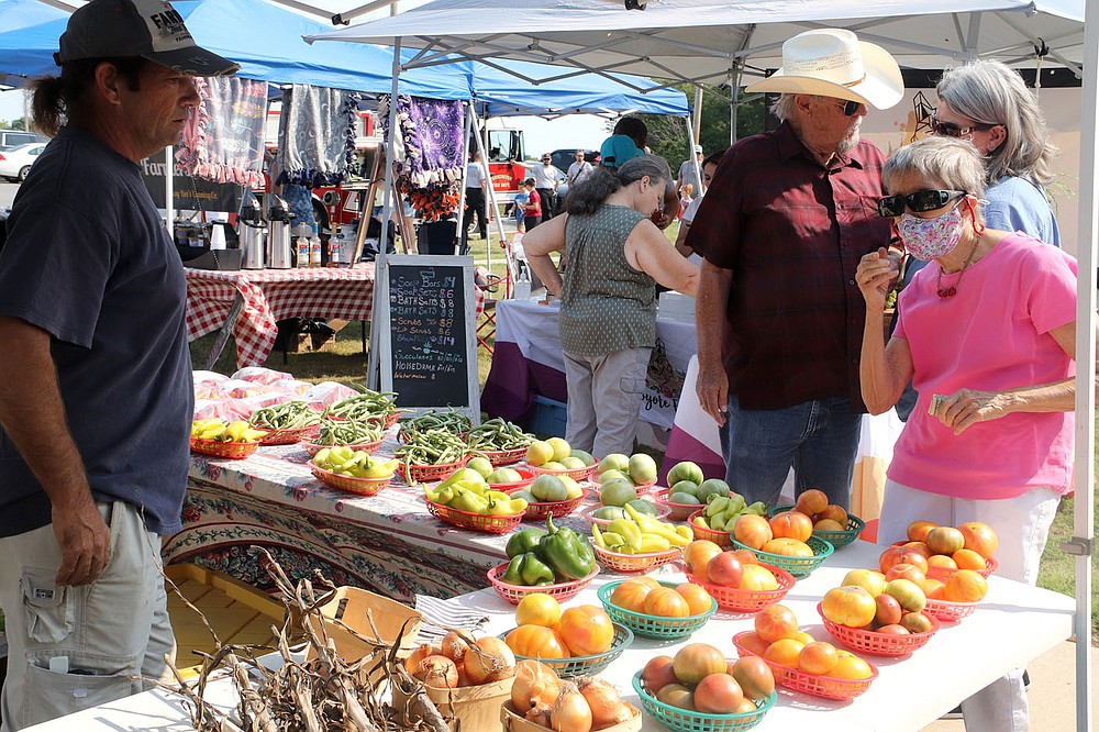 Troy Coleman with Clearwater Farms was one of more than 30 vendors at the Farmington Fall Festival on Saturday. He grows organic produce and also participates in the Farmington Farmers Market on Sundays in the junior high parking lot.