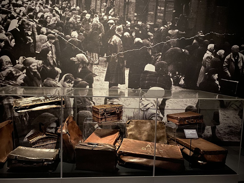 Jews deported for extermination were told that they were being resettled. Therefore they packed their most important belongings for the journey. Everything was robbed when they arrived at the camp, Sawicki says.  (Pawel Sawicki, Auschwitz Memorial)