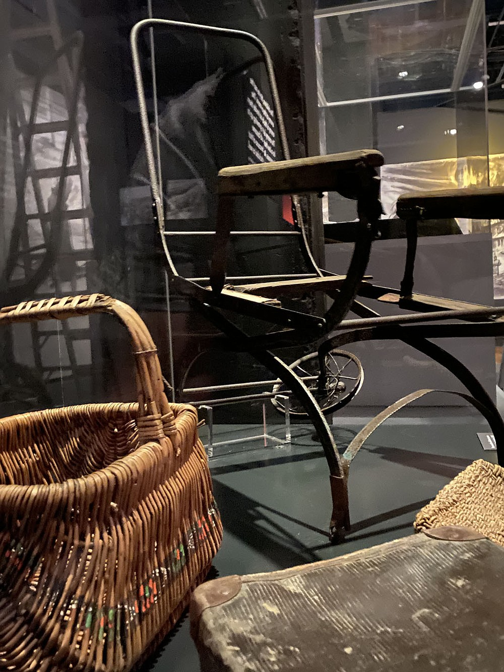 """Some 232,000 children were deported to Auschwitz, 216,000 of them Jewish. Most of the Jewish children were murdered in gas chambers. In the touring exhibition now on show in Kansas City, you can see a """"push chair"""" (stroller) that belonged to one of them.  (Pawel Sawicki, Auschwitz Memorial)"""