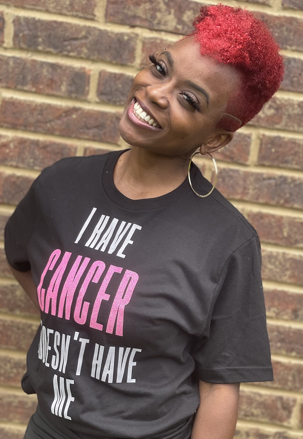 Submitted photo Sha Rowe is fighting breast cancer, attending college and taking care of her son.