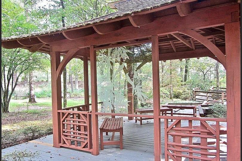 Dodi Tea House is a highlight of Wildwood Park's Asian Woodland Garden. (Special to the Democrat-Gazette/Marcia Schnedler)
