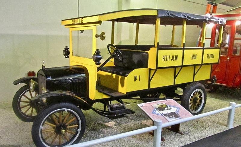 Petit Jean students were served by a 1920 Ford Model TT school bus. (Special to the Democrat-Gazette/Jack Schnedler)