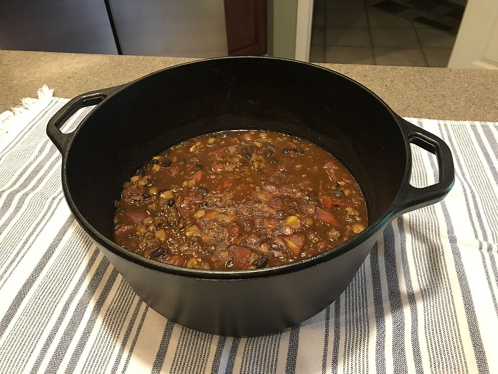 John Burroughs made a pot of his black bean and sausage chili just for the readers of Local Flavors.  Unfortunately, he now lives in the St. Louis area.  (Courtesy photo / John Burroughs)
