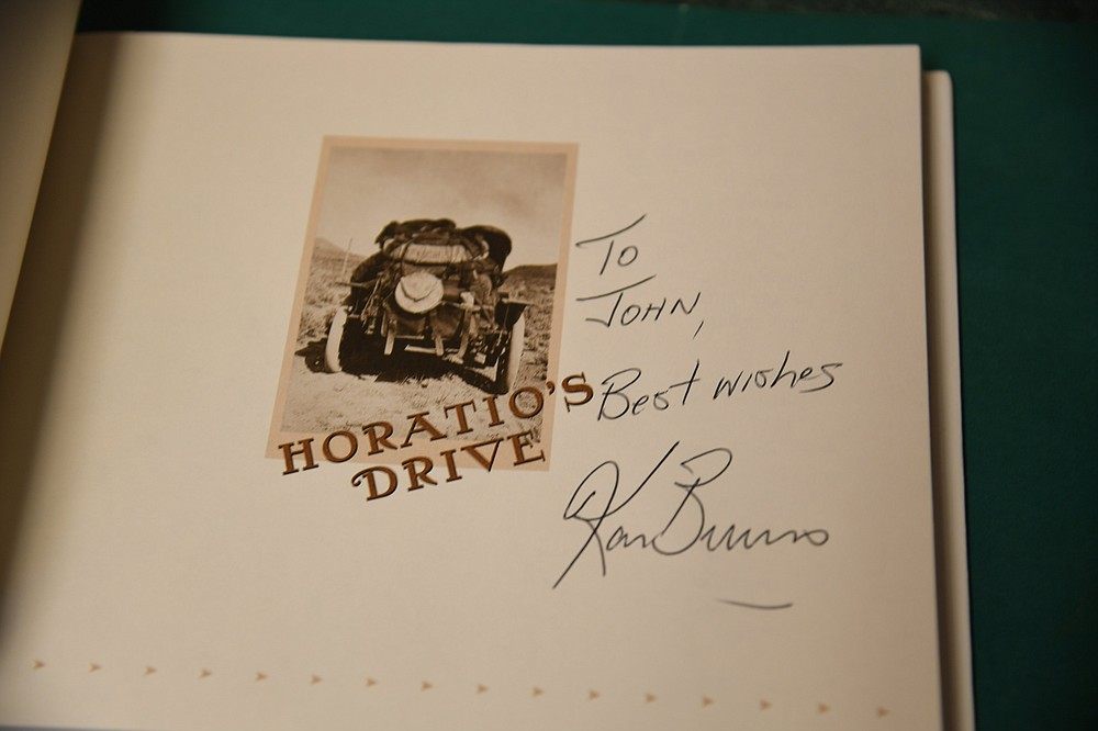 Several autographed books, such as this one signed by Ken Burns, will be available at the Garland County Library's annual book sale. - Photo by Tanner Newton of The Sentinel-Record