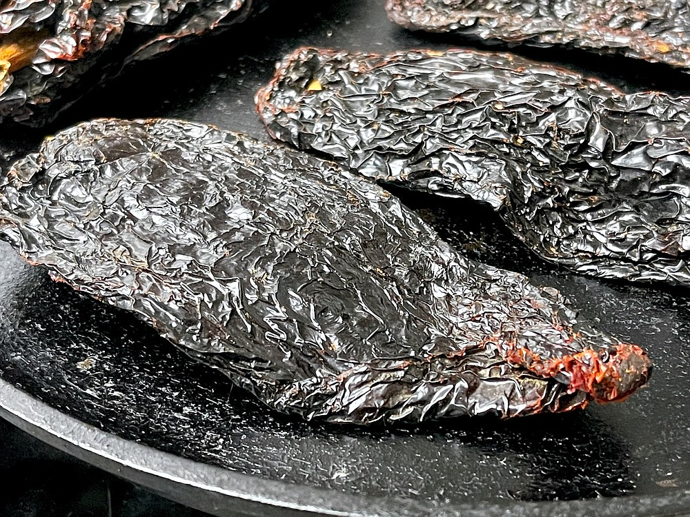 Toasting dried chiles on a comal brings out their flavor (Arkansas Democrat-Gazette/Kelly Brant)