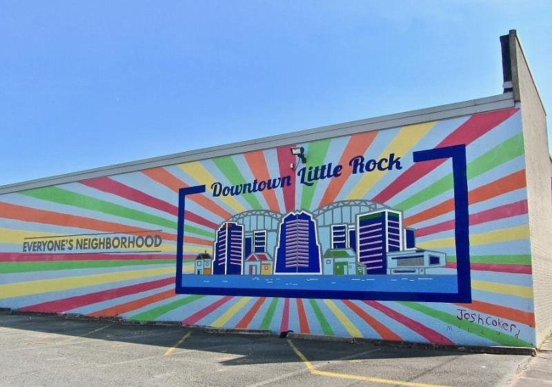 """""""Everyone's Neighborhood,"""" a collaborative effort, offers an upbeat vision of Little Rock. (Special to the Democrat-Gazette/Marcia Schnedler)"""