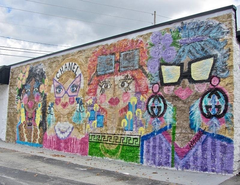 """The """"Chanel"""" mural at 7011 Cantrell Road is the work of Kristin McCaslin. (Special to the Democrat-Gazette/Marcia Schnedler)"""