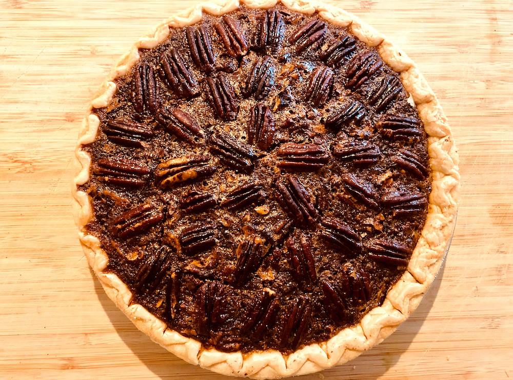 Sorghum Pecan Pie (Arkansas Democrat-Gazette / Sean Clancy)