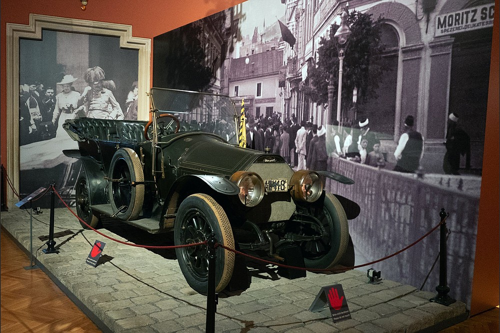 This is the vehicle — at the Museum of Military History — in which Archduke Franz Ferdinand was assassinated on June 28, 1914. (Alan Behr/TNS)