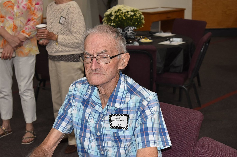 PHOTO BY DALANA FULLER. Photo of Don Underwood, who was recognized as the eldest student at the reunion. Underwood graduated in 1947.