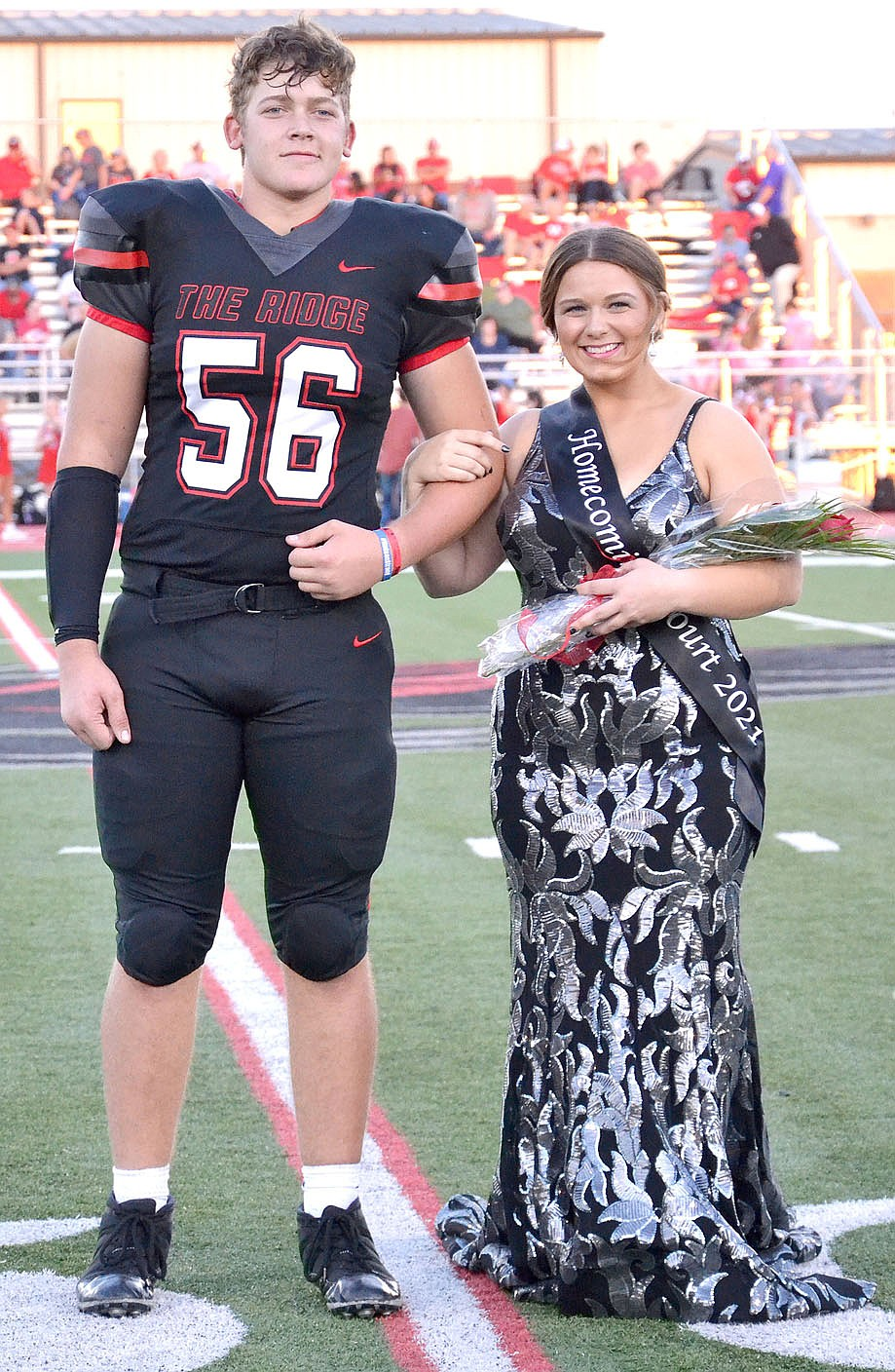 Homecoming maid Nalea Holliday, 17, daughter of Nash and Candice Holliday, was escorted by Braidon McCarley.