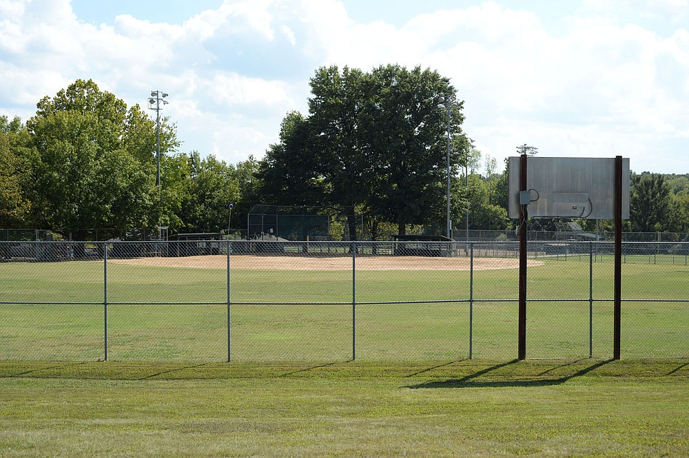 One of the three ball fields is seen Thursday at Lake Fayetteville.  The city's parks department wants to use the money from the US bailout to renovate fields on Lake Fayetteville, install sewer lines and toilets in Underwood Park, and add activities to Walker Park.  Visit nwaonline.com/211008Daily/ for today's photo gallery.  (NWA Democrat-Gazette / Andy Shupe)