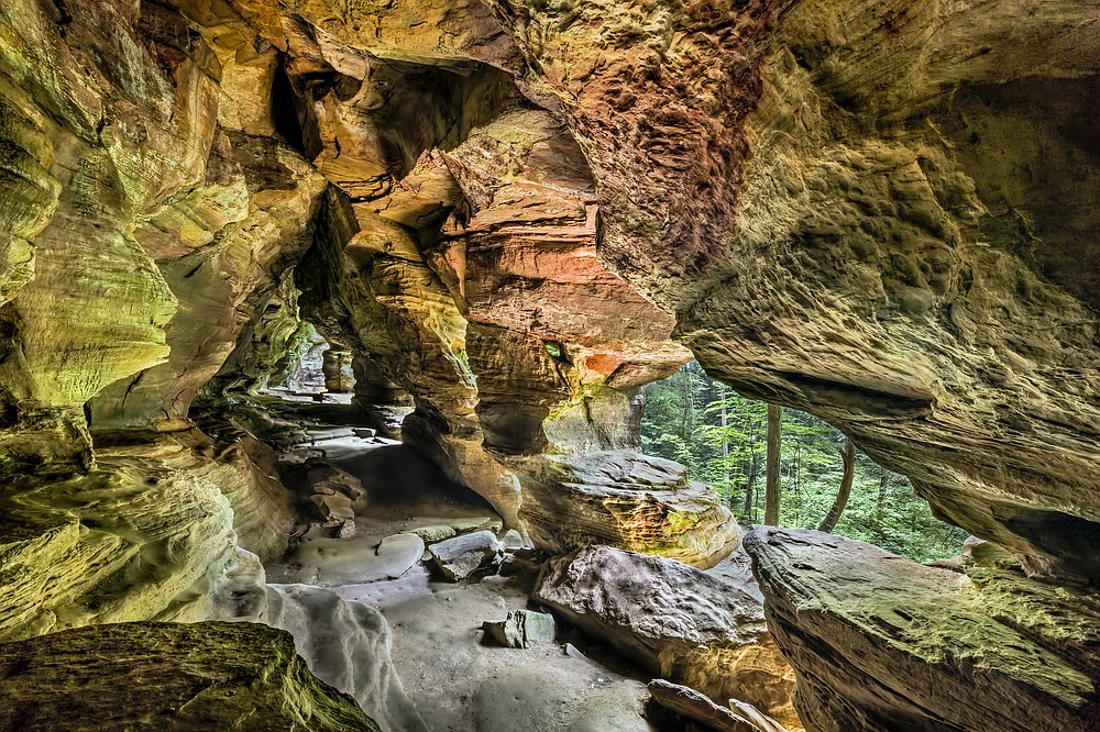 Rock House is a unique cave ocated in the Hocking Hills of Ohio. (Dreamstime/TNS)